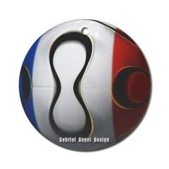 France Soccer Ornament (Round)