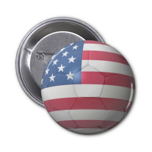 US Soccer 2 Inch Round Button