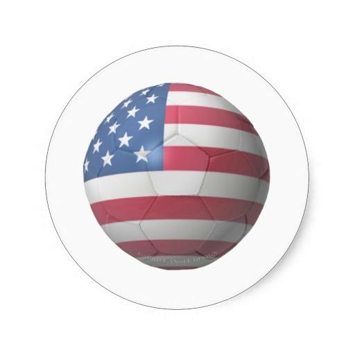 US Soccer Classic Round Sticker