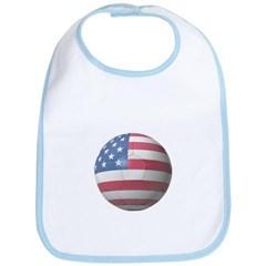 USA Soccer Baby Bib