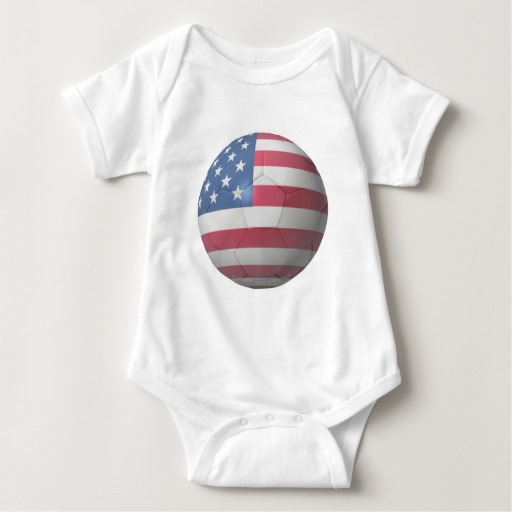 USA Soccer Baby Jersey Bodysuit