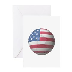 USA Soccer Greeting Card