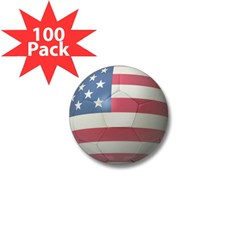USA Soccer Mini Button (100 pack)
