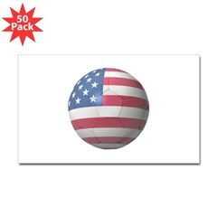 USA Soccer Rectangle Decal 50 Pack
