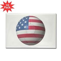 USA Soccer Rectangle Magnet (10 pack)
