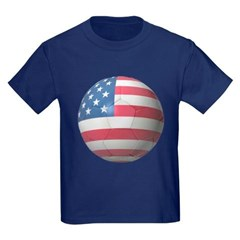 USA Soccer Youth Dark T-Shirt by Hanes