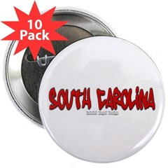 "South Carolina Graffiti 2.25"" Button (10 pack)"