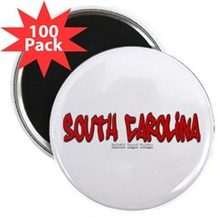"South Carolina Graffiti 2.25"" Magnet (100 pack)"
