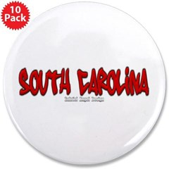 "South Carolina Graffiti 3.5"" Button (10 pack)"