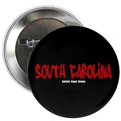 "South Carolina Graffiti (Black) 2.25"" Button"