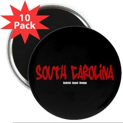 "South Carolina Graffiti (Black) 2.25"" Magnet"