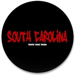 "South Carolina Graffiti (Black) 3.5"" Button"