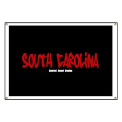 South Carolina Graffiti (Black) Banner