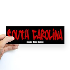 South Carolina Graffiti (Black) Bumper Sticker