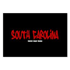 South Carolina Graffiti (Black) Large Posters