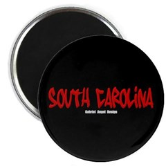South Carolina Graffiti (Black) Magnet
