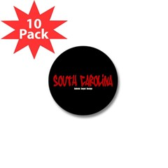 South Carolina Graffiti (Black) Mini Button 10 pk