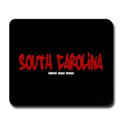 South Carolina Graffiti (Black) Mousepad