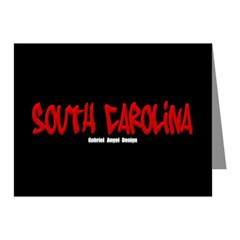 South Carolina Graffiti (Black) Note Cards 10 pk
