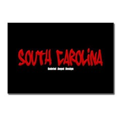 South Carolina Graffiti (Black) Postcards 8 pk