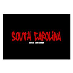 South Carolina Graffiti (Black) Posters