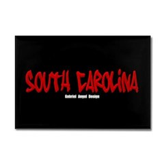South Carolina Graffiti (Black) Rectangle Magnet