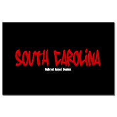 South Carolina Graffiti (Black) Small Posters