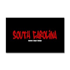 South Carolina Graffiti (Black) Sticker Rectangle
