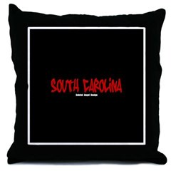 South Carolina Graffiti (Black) Throw Pillow