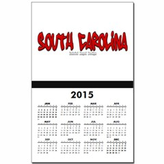 South Carolina Graffiti Calendar Print