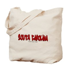 South Carolina Graffiti Canvas Tote Bag
