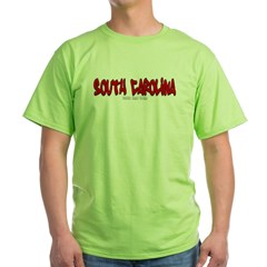 South Carolina Graffiti Green T-Shirt