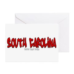South Carolina Graffiti Greeting Card