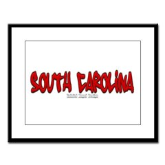 South Carolina Graffiti Large Framed Print