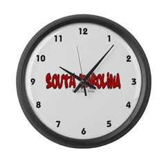 South Carolina Graffiti Large Wall Clock