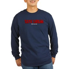 South Carolina Graffiti Long Sleeve Dark T-Shirt