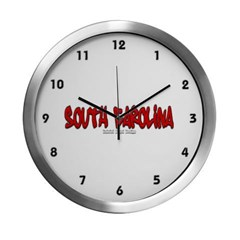 South Carolina Graffiti Modern Wall Clock