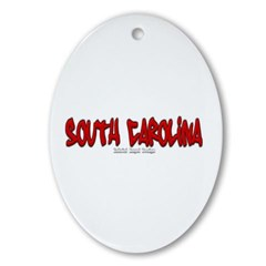 South Carolina Graffiti Ornament (Oval)