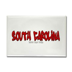 South Carolina Graffiti Rectangle Magnet