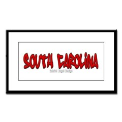 South Carolina Graffiti Small Framed Print
