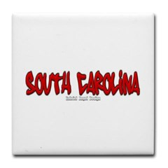 South Carolina Graffiti Tile Coaster