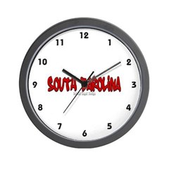South Carolina Graffiti Wall Clock