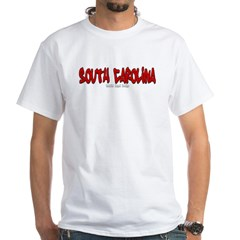 South Carolina Graffiti White T-Shirt