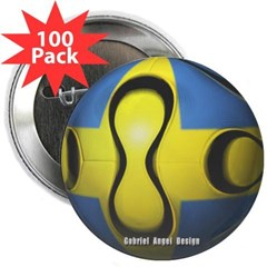 "Sweden Soccer 2.25"" Button (100 pack)"