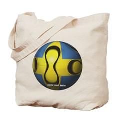 Sweden Soccer Canvas Tote Bag