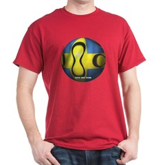 Sweden Soccer Dark T-shirt