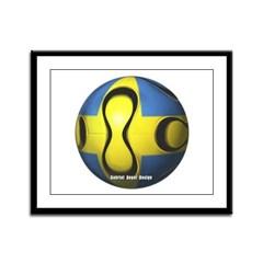 Sweden Soccer Framed Panel Print