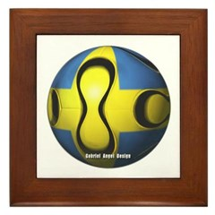 Sweden Soccer Framed Tile