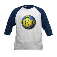Sweden Soccer Kids Baseball Jersey T-Shirt