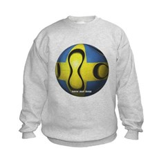 Sweden Soccer Kids Crewneck Sweatshirt by Hanes
